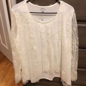 White lace Avenue shirt